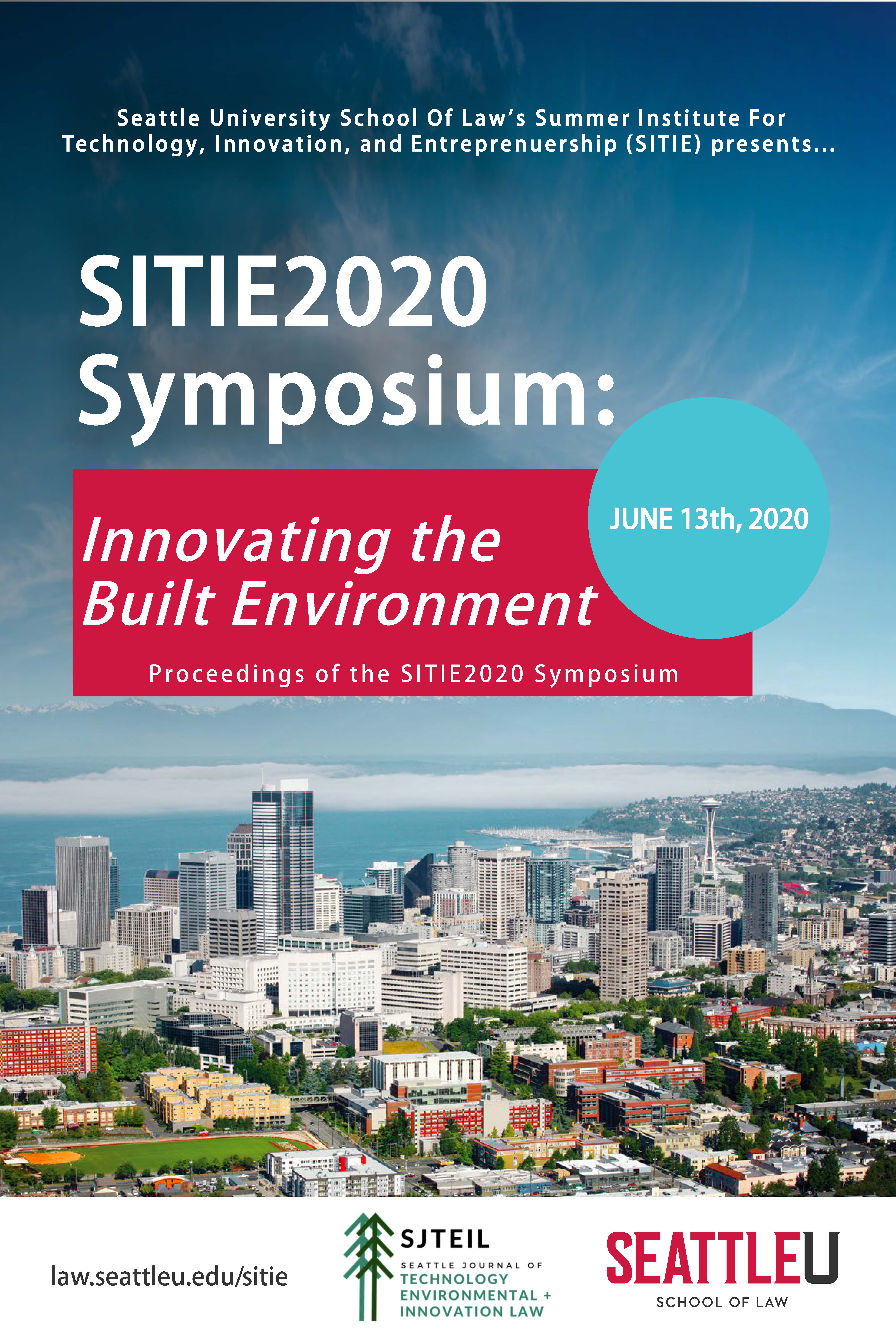 SITIE2020 Symposium: Innovating the Built Environment
