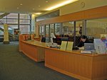 Circulation desk by Seattle University Law Library