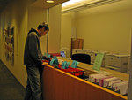Picking up documents by Seattle University Law Library