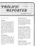 Prolific Reporter February 2, 1987