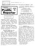Prolific Reporter November 7, 1988 by Seattle University School of Law Student Bar Association