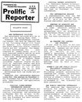 Prolific Reporter November 14, 1988 by Seattle University School of Law Student Bar Association