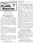 Prolific Reporter November 28, 1988 by Seattle University School of Law Student Bar Association