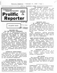 Prolific Reporter February 20, 1989 by Seattle University School of Law Student Bar Association