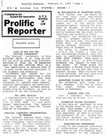 Prolific Reporter February 27, 1989 by Seattle University School of Law Student Bar Association