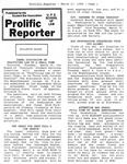 Prolific Reporter March 2, 1989 by Seattle University School of Law Student Bar Association