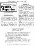 Prolific Reporter April 10, 1989 by Seattle University School of Law Student Bar Association