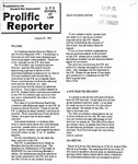 Prolific Reporter August 28, 1989 by Seattle University School of Law Student Bar Association