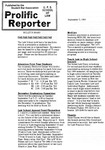 Prolific Reporter September 5, 1989 by Seattle University School of Law Student Bar Association