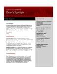 Dean's Spotlight May 2, 2011