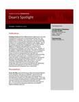 Dean's Spotlight October 31, 2011