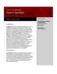 Dean's Spotlight January 16, 2012